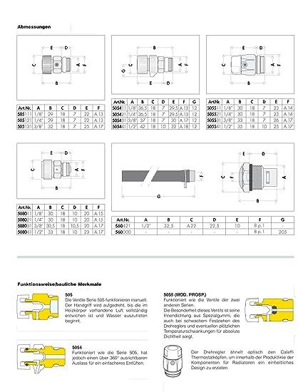 Caleffi hygroskopisches Válvula de ventilación 1/2 pulgadas Radiador - Purgador automático Radiador Bleed Válvula Radiador - Purgador: Amazon.es: Bricolaje ...