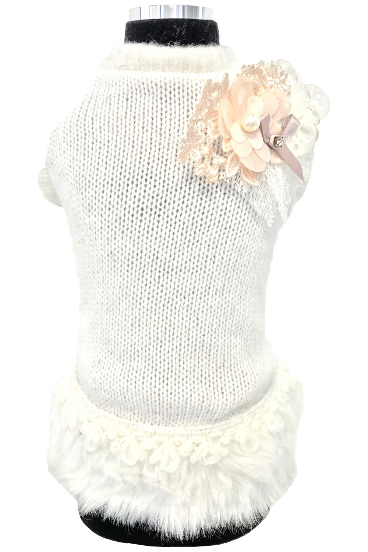 Trilly tutti Brilli Safira, dog's dress, white, XL dog's dress SAFIRABIAXL