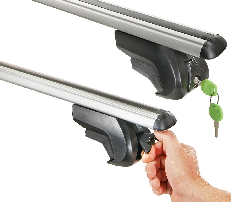 Aurilis Trek CC Roof Rack Rails Aluminium AUR156406//°C Calu c1/T/ÜV//GS Mark