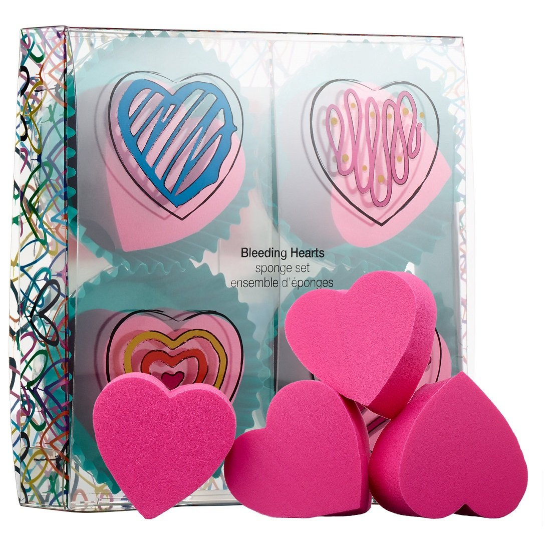 Sephora Bleeding Hearts Mini Makeup Sponges (Set of 4)