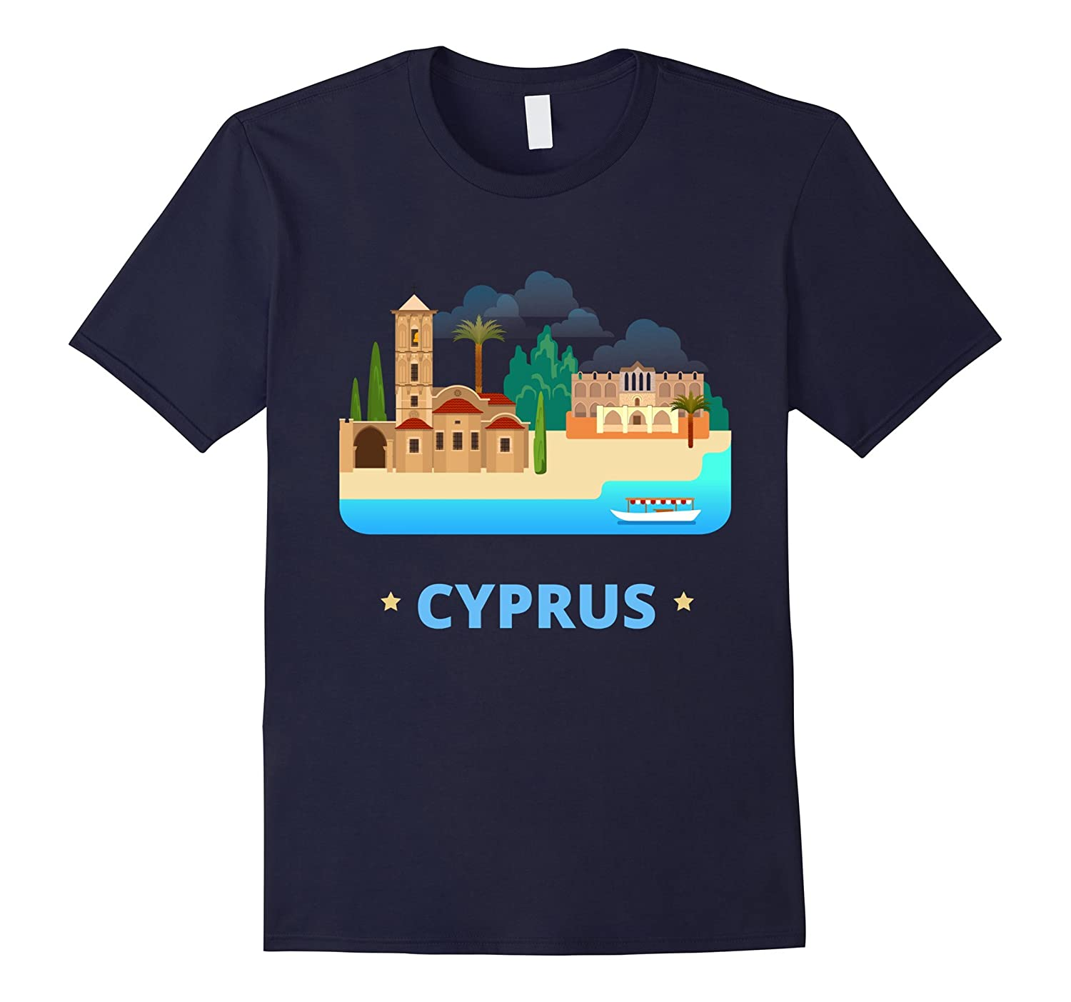 Cyprus T-Shirt Cyprus Tourist Tee-CD