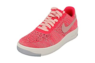new arrivals ab856 1f881 NIKE Womens Af1 Air Force 1 Flyknit Low Running Trainers 820256 Sneakers  Shoes (UK 4