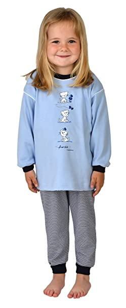 Pijamas chicas 2 piezas Gatito color azul claro, tallas 92-116 size 92