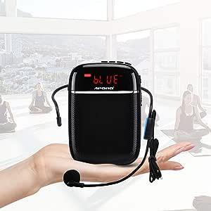 Amplificador de voz (10W) 1000mAh Bluetooth, pila al lithiumand Cableado Micrófono para las guías, los profesores, conférenciers, directivos, entrenador electronica
