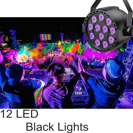 Amazon.com: TECKEPIC - Luz LED UV negra, 12 LED, DMX, luz ...