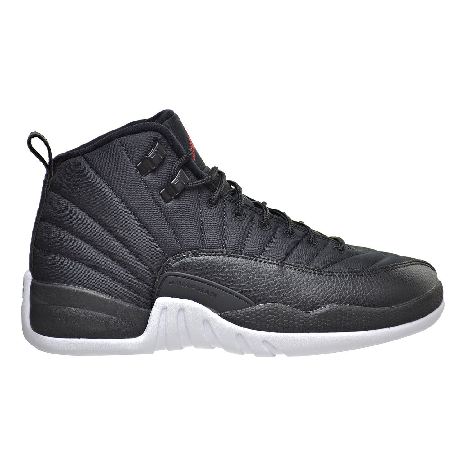 Nike Air Jordan 12 Retro BG Basketball Trainers Sneaker black/white/red, EU Shoe Size:EUR 39, Color black
