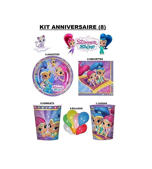 Kit Cumpleaños Shimmer y Shine (8): Amazon.es: Hogar