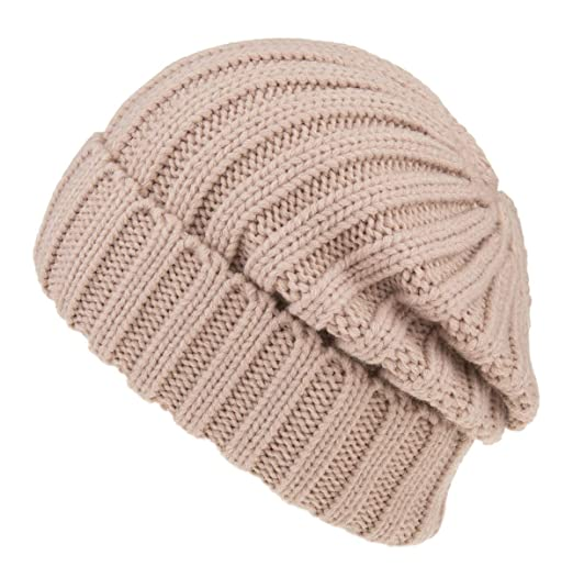 Spikerking Womens Winter Headwear Thick Soft Cable Knit Beanie Hats ... 21006c24b8e