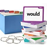 Torlam 520 Sight Words Flash Cards Kindergarten Homeschool Supplies with Card Folders & Rings - Dolch Fry High Frequency Site