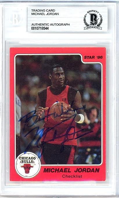 45352adb444 Michael Jordan Autographed 1986 Star Card  1 Chicago Bulls