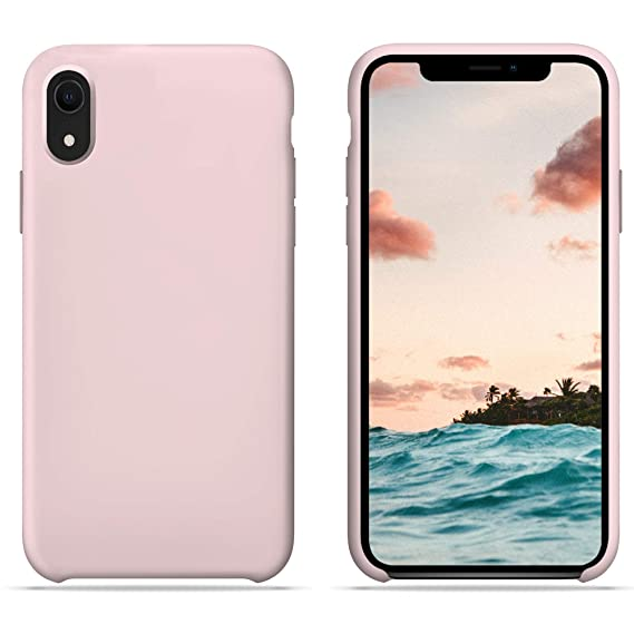 iphone xr silicon case pink