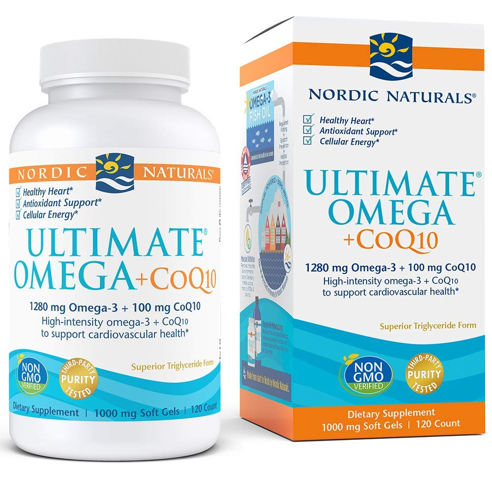 Nordic Naturals - Ultimate Omega+CoQ10, Support for the Heart + Circulatory System, 120 Soft Gels by Nordic Naturals