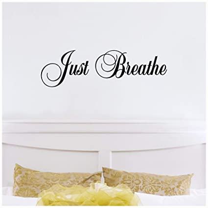 Amazon Com Wall Sayings Vinyl Lettering Just Breathe M Home Decor