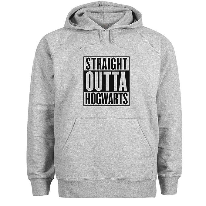 TINCURI Sudadera con Capucha Gris Harry Potter Straight Outta Hogwarts (XS-XXL)