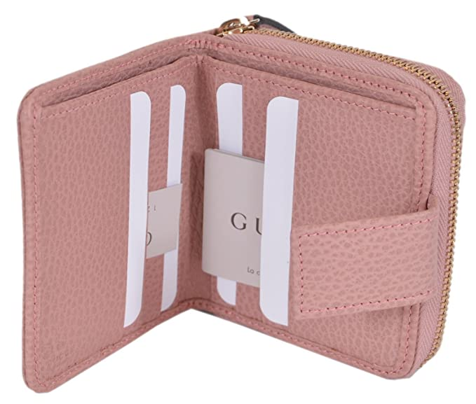 66ad5b88e128 Gucci Women's Canvas GG Guccissima French Zip Around Wallet (346056/Beige  Pink): Amazon.ca: Clothing & Accessories