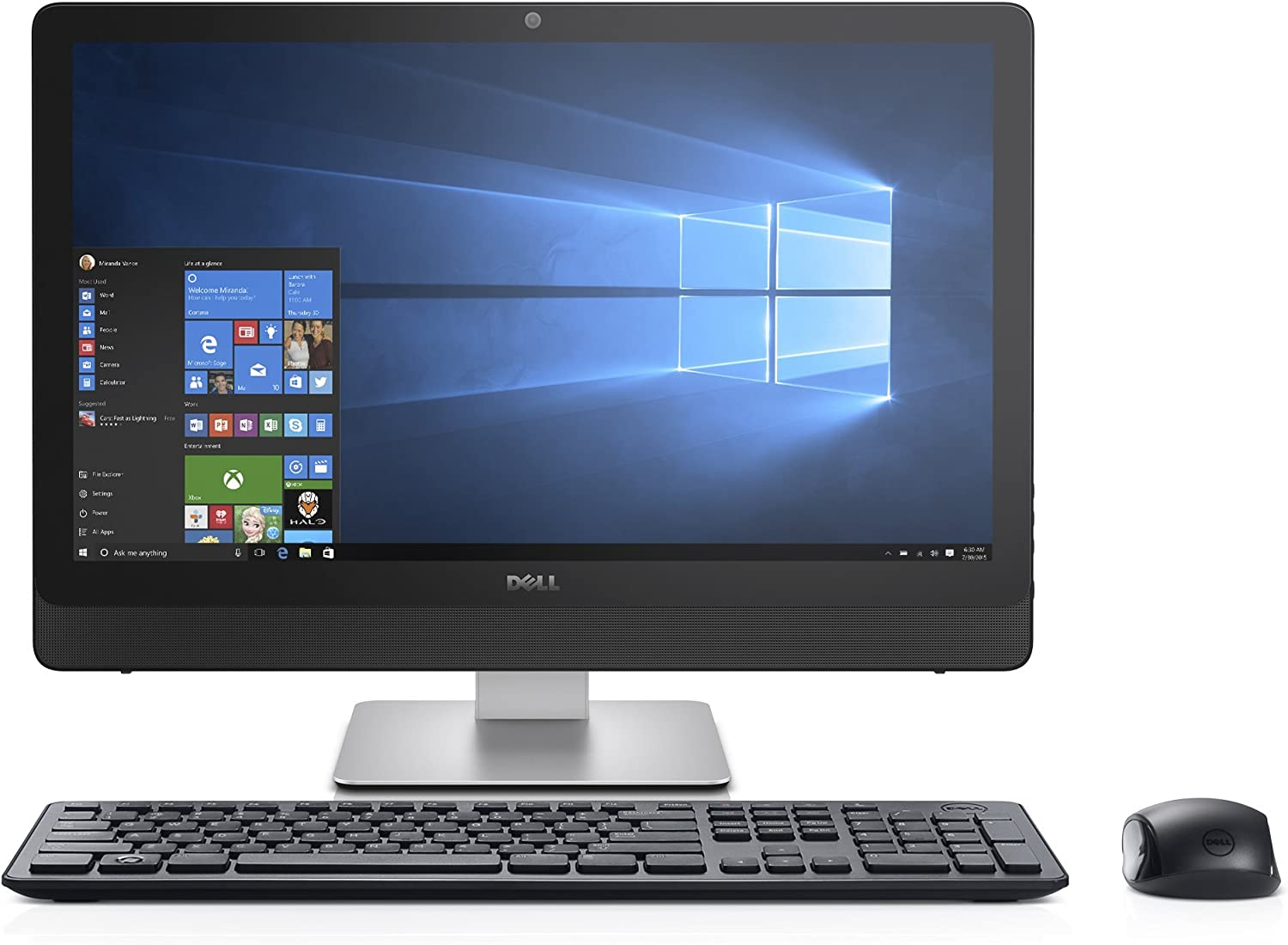 Dell Inspiron 3464 FHD 24in Touch Screen All in One PC (Intel Core i3-7100U, 8GB Ram, 1TB HDD, Camera, HDMI, WiFi, DVD-RW) Windows 10(Renewed)