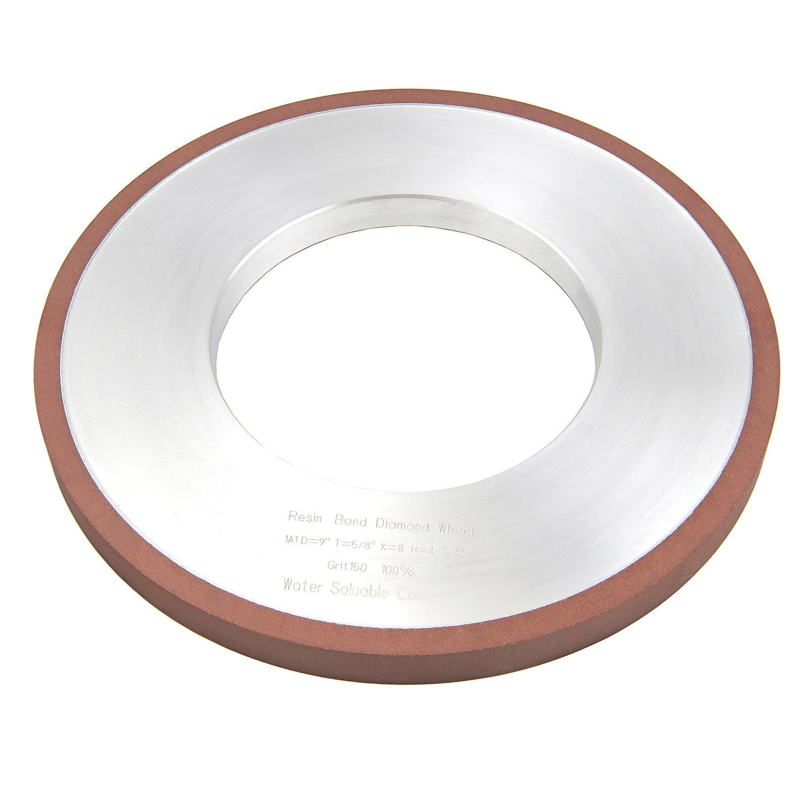 MaxTool OD 12'' Thick 3/4'' Diamond Plain Wheel Bore 5'' Grit 180 Resin Bond; NDR1A1D12T19X6G18