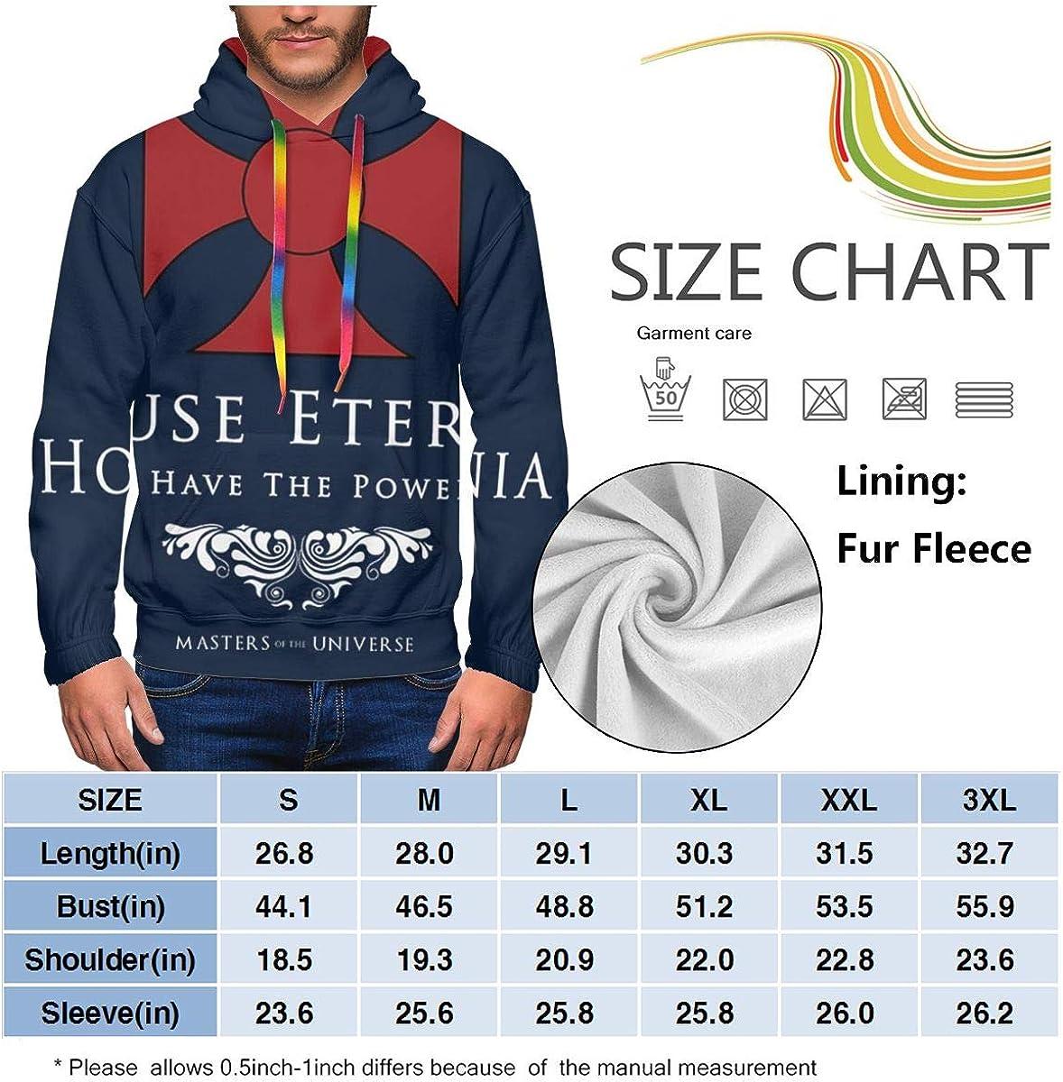 House Eternia Herren Kapuzenpullover I Have The Power He Man Masters of The Universe Fashion Sweatshirt Hoodie Pullover Taschen Plus Samt Schwarz