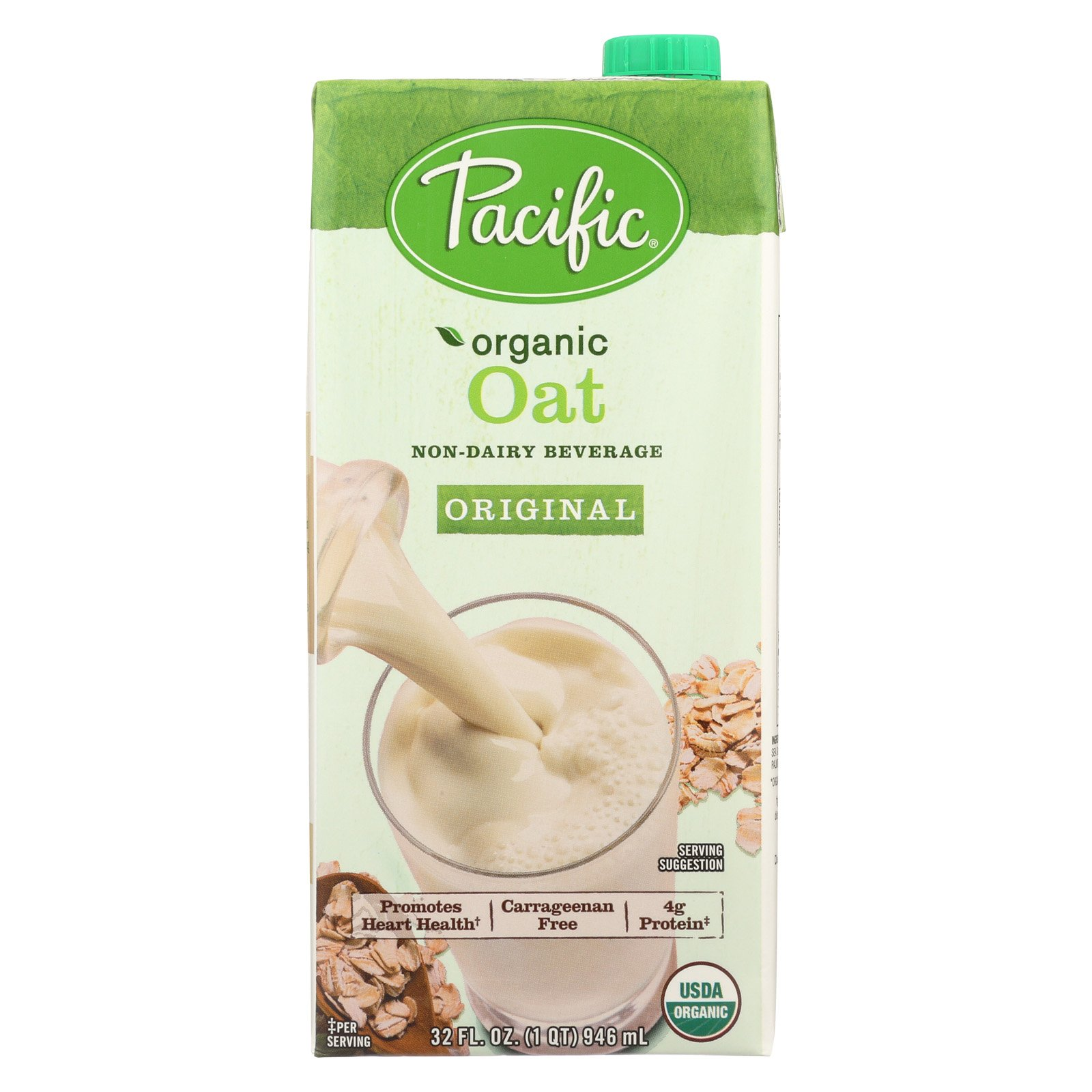 Pacific Natural Foods Oat Original - Organic - Case of 12 - 32 Fl oz. by Pacific Natural Foods