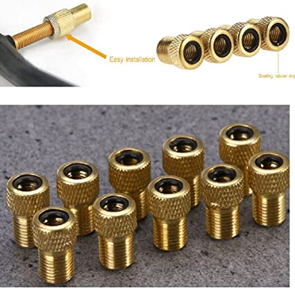 10 Presta to Schrader Valve Adator Adapter Converter Bicycle Bike Tire Tube Pump
