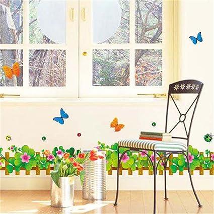 Amazon.com: GTNINE Clover Garden Vinyl Wall Decals Modern ...