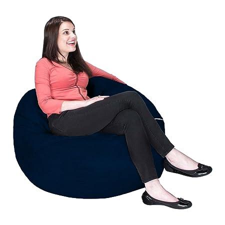 Jaxx Saxx 3 Bean Bag Chair, Navy