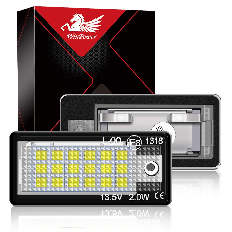 A5 // S5 S4 B8 Win Power Error 18 SMD LED Num/éro dimmatriculation de la plaque dimmatriculation Cool White Lamps ampoule 6000K pour A4 4 portes berline B8 TT//TT RS 5 porte Avant Q5