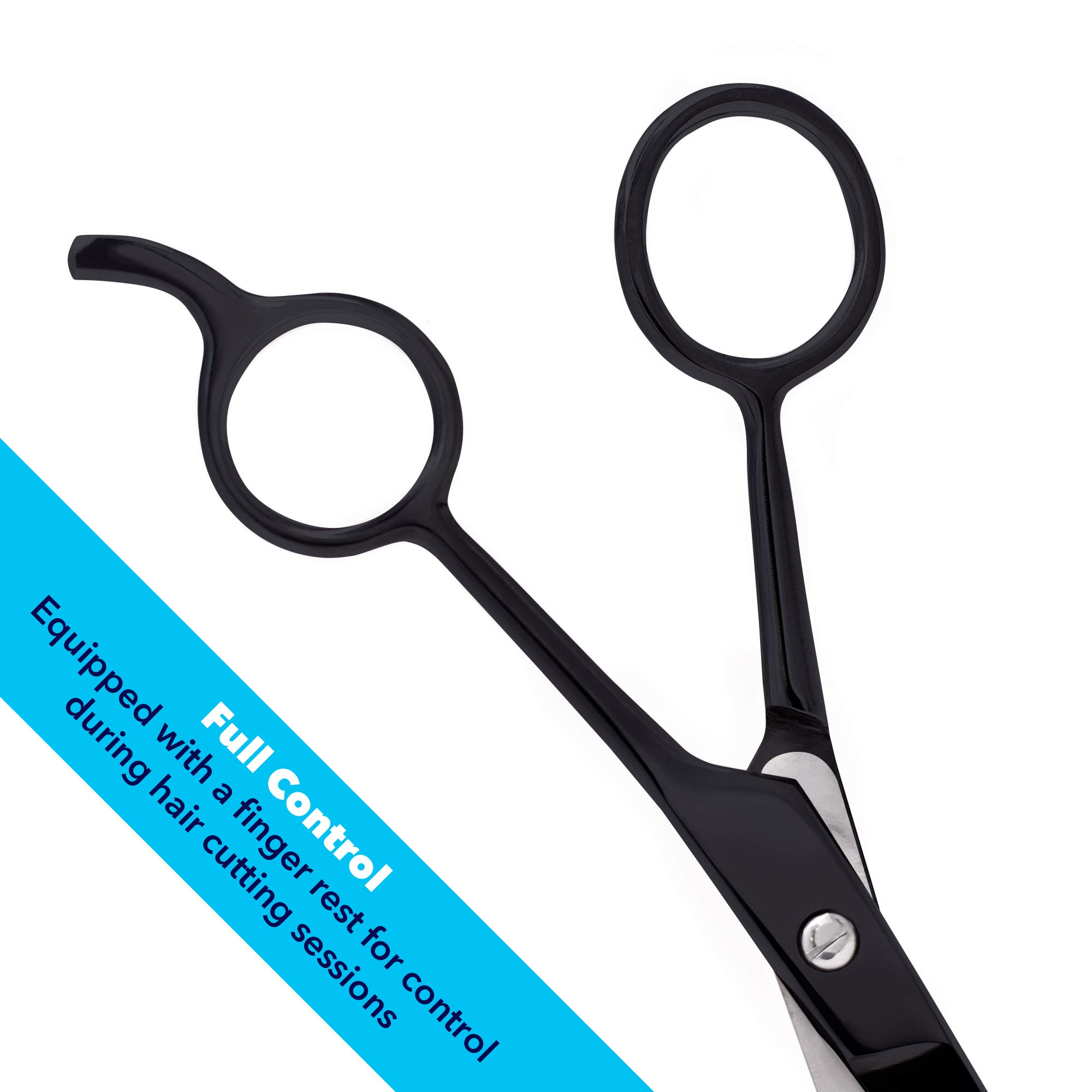 Equinox International Professional Shears with Finger Rest and Finger  Inserts - Ice Tempered Barber Hair Cutting Scissors - 11.11 Inches -  Stainless