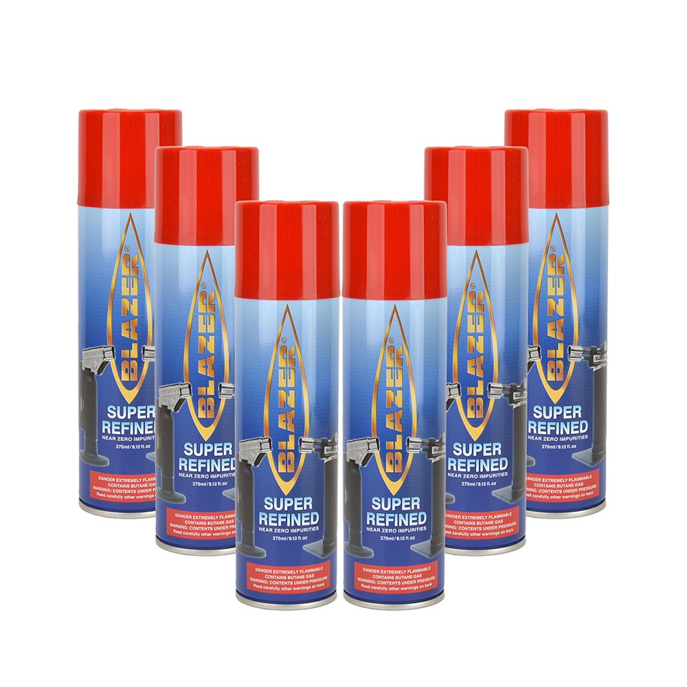 Amazon.com: Blazer Butane Refill - 6 canisters: Health  for Torch Lighter Refill  55nar