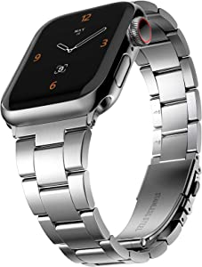 CCnutri Compatible with Apple Watch Bands 38mm 40mm 42mm 44mm, Innovative No Tool Needed Stainless Steel Replacement Straps iWatch Bracelet for Apple Watch Series 6 5 4 3 2 1 SE