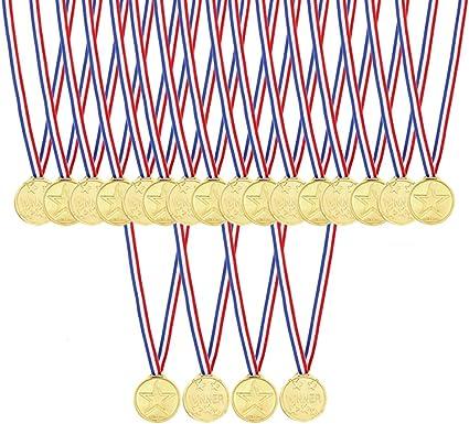 Amazon.com: caydo 48 pcs niños de los niños dorado Medallas ...