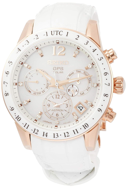 ASTRON 腕時計 アストロン 第3世代 ソーラーGPS チタンモデル ダイヤ入り白文字盤 サファイアガラス ローズゴールドダイヤシールド SBXC004