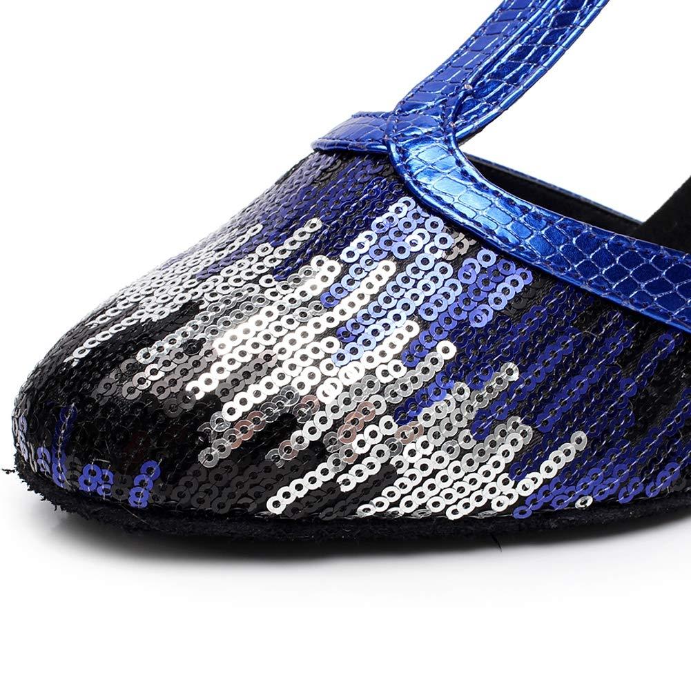 XIAOY Frauen Satin Lateinische Tanzschuhe Glitter T-Strap Dance Schuhe Geschlossene Geschlossene Geschlossene Zehe Funkelnde Glitzer B07LGS89BX Tanzschuhe Leidenschaftlicher Sport, niemals aufhören dcd151