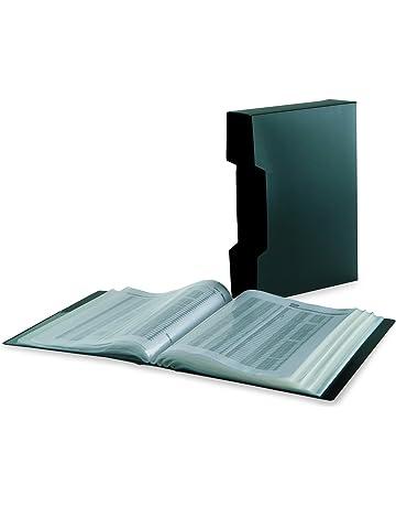 Bankers Box - Carpeta porta fundas gran capacidad, 100 fundas, negro