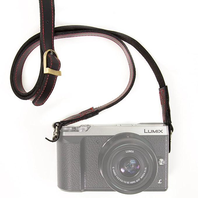 MegaGear MG945 Pulsera Piel para Todos cámara Negro: Amazon.es ...