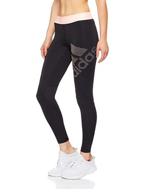 adidas Damen Alphaskin Sport Long Tights Schwarz/Orange
