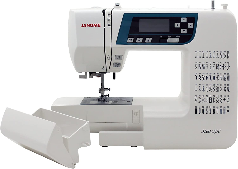 Janome 3160QDC máquina de coser computarizada con cubierta dura + ...