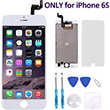 for iPhone 6S Screen Replacement (4.7 Inch) White - Corepair LCD Display Screen + Touch Digitizer Assembly with Full Set Repair Tools and Screen Protector (iPhone 6S White)