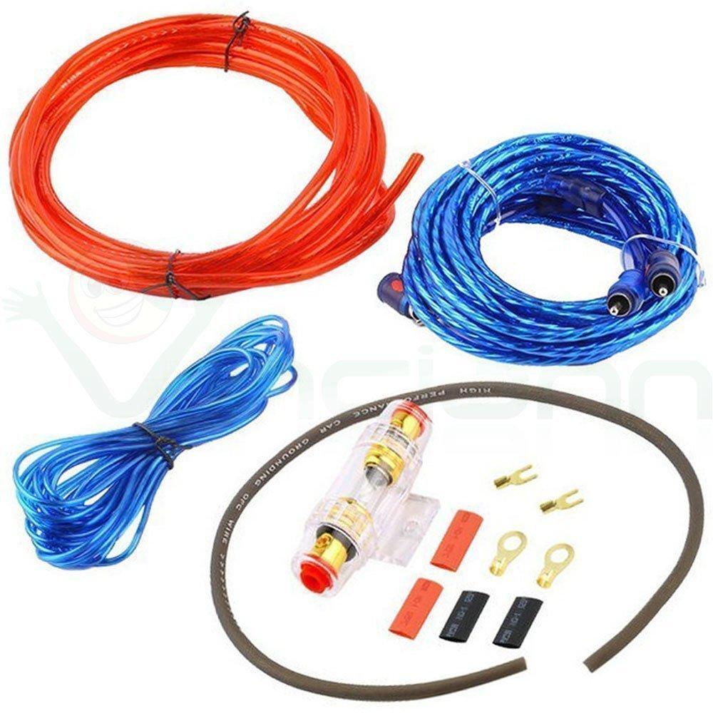 Kit cavi audio RCA installazione amplificatore auto subwoofer car cablaggio cavo Vinciann BES-21596