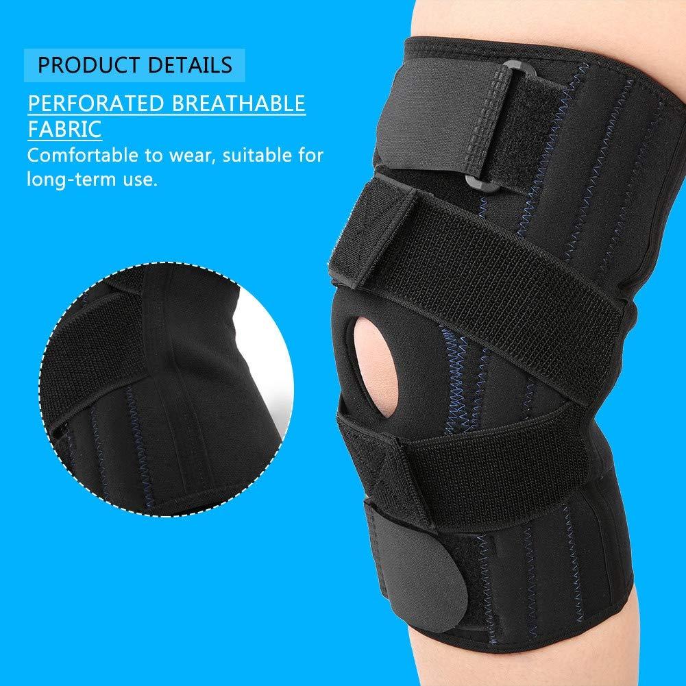 Genouill/ère genouill/ère ajustable avec support de genou r/églable Enveloppe de protection pour coussinets de gel patella sport parfaite pour la course genou et ACL M genouill/ère