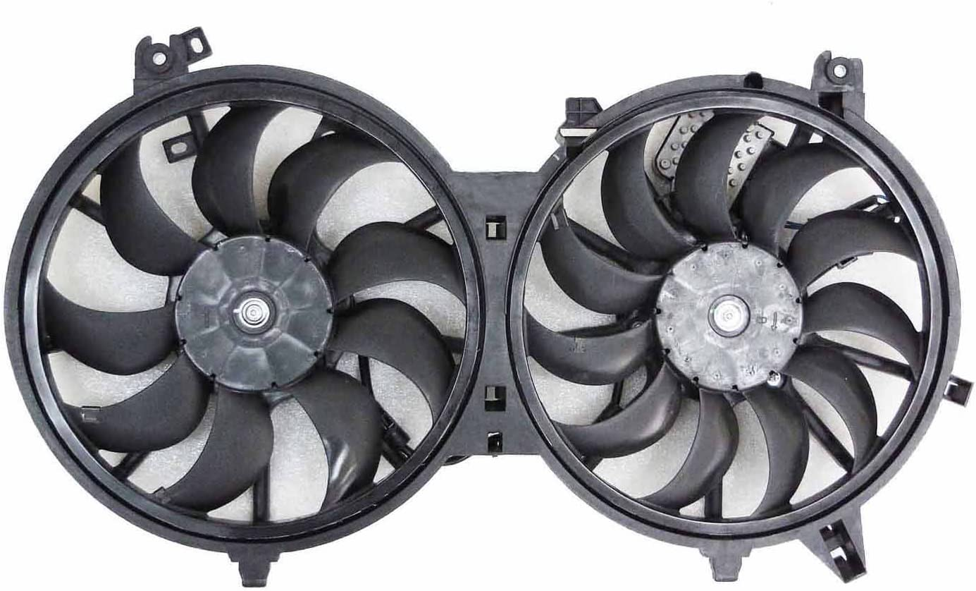NISSAN 370Z 2014-2015 PartsChannel IN3115111 OE Replacement Dual Radiator and Condenser Fan Assembly