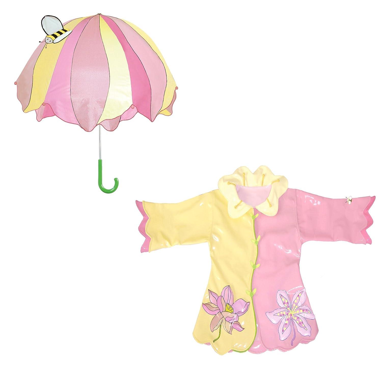 Kidorable Lotus Raincoat and Umbrella Set (2T) Lotus Set
