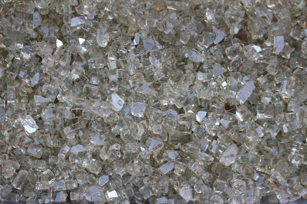 10 lb. Crystal Reflective Tempered Fire Glass