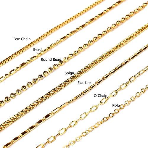 8fed9a670637 U7 Cadena 7 Tipos Hombres Mujeres Joyería Cadena Colgante Cadena 2 mm 3 mm  de Ancho