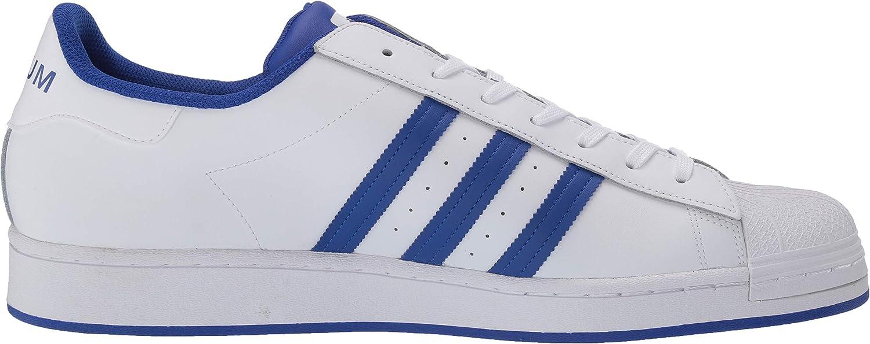 adidas Originals Damen Superstar Foundation J Turnschuh, weiß Weiß Fat Blue Granit