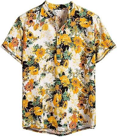 Camisa Verano Hombre Camisas Casual para Hombre Camisa de Manga Corta Impresa para Hombre Camisa Polo Slim fit Camisa Hawaiana Hombre 3D Estampada Funky Camisas Manga Corta Hawaii Shirt: Amazon.es: Ropa y