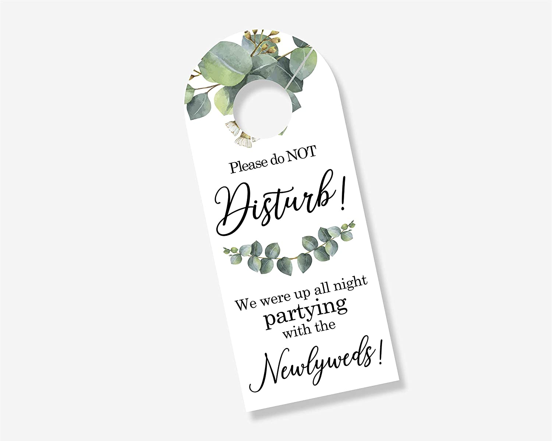 Amazon.com: Paquete de 10 letreros para puerta de boda con ...