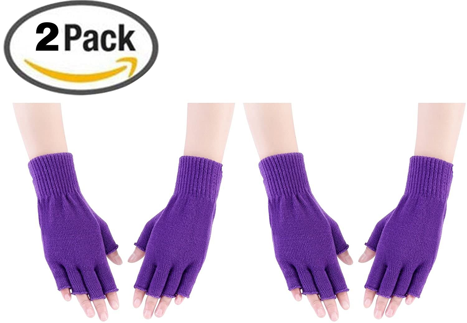 Amorismo Damen Fingerlose Handschuhe AKNITTEDGLOVES10BLUEW