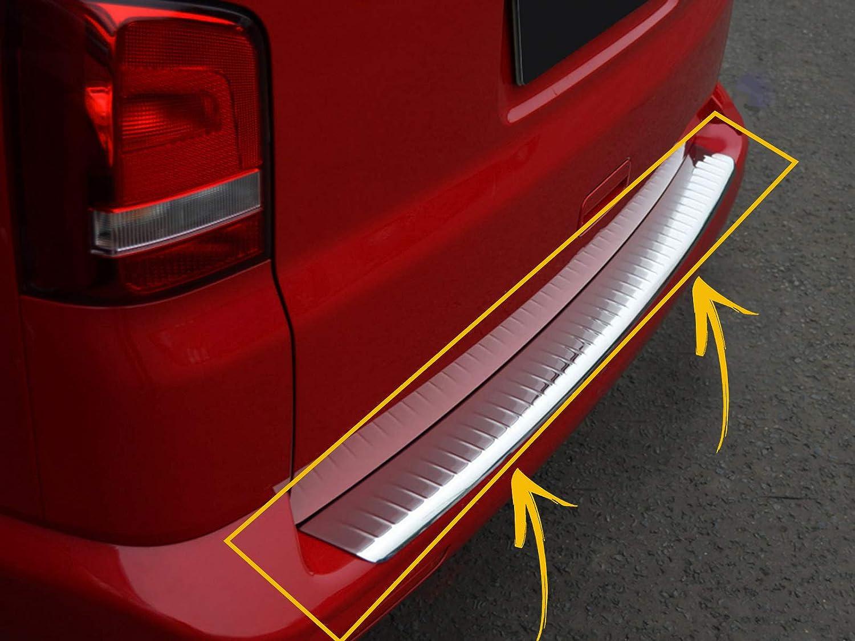 Generic Coque de Protection pour Pare-Chocs arri/ère en Acier Inoxydable chrom/é pour VW T5 Transporter 2003-2014 bross/é