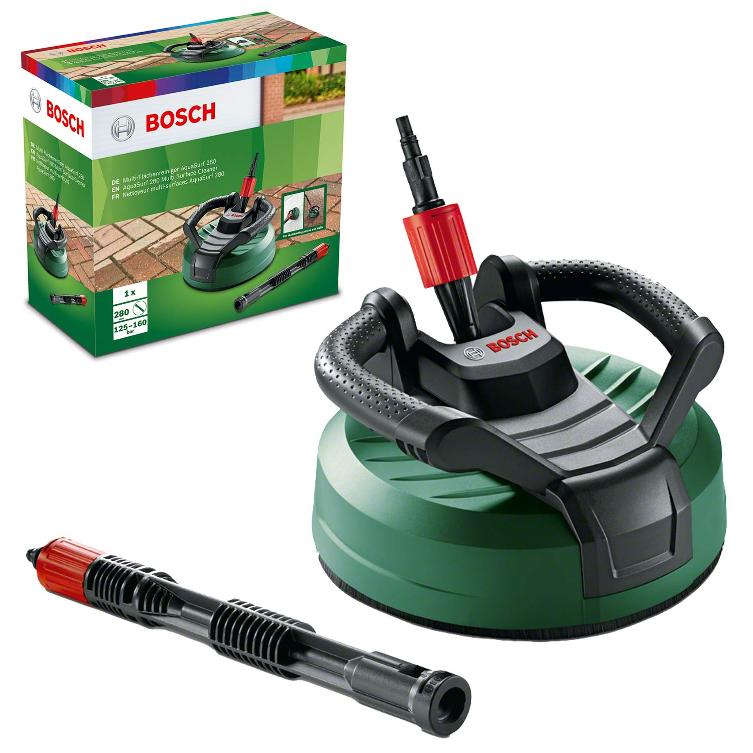 Bosch F016800467 AquaSurf 280 Multi-Surface Patio Cleaner for AQT High Pressure Washers